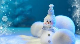 4K Christmas Snowman Photo Download