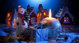 4K Christmas Snowman Photo Free