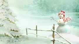 4K Christmas Snowman Photo Free#1