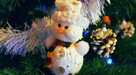 4K Christmas Snowman Wallpaper Download