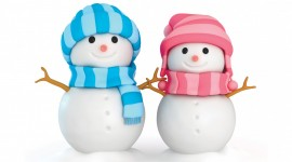 4K Christmas Snowman Wallpaper For PC
