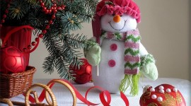 4K Christmas Snowman Wallpaper Full HD