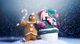 4K Christmas Snowman Wallpaper Full HD#1