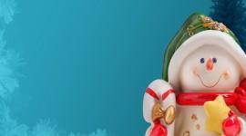 4K Christmas Snowman Wallpaper HQ