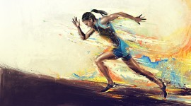 Athletes Runners Wallpaper Full HD