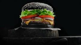 Black Burger Desktop Wallpaper