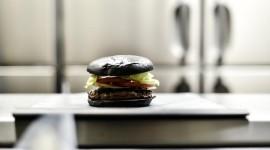 Black Burger Desktop Wallpaper For PC