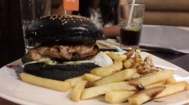 Black Burger Desktop Wallpaper Free