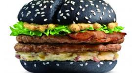 Black Burger Desktop Wallpaper HD