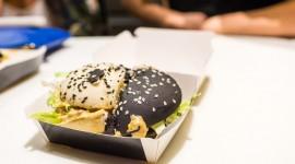 Black Burger High Quality Wallpaper