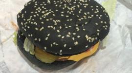 Black Burger Wallpaper For IPhone