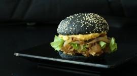 Black Burger Wallpaper Full HD