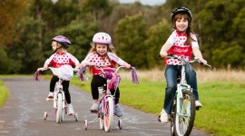 Children On Bicycles Photo Free