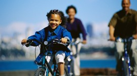 Children On Bicycles Wallpaper