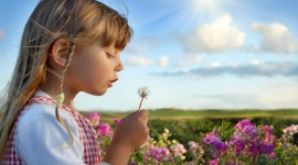 Children With Flowers Photo Download