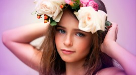 Children With Flowers Wallpaper
