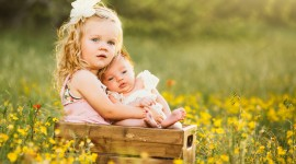 Children With Flowers Wallpaper Gallery