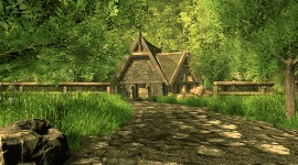 House In The Woods Wallpaper Download Free