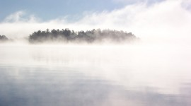 Misty Morning Desktop Wallpaper HD