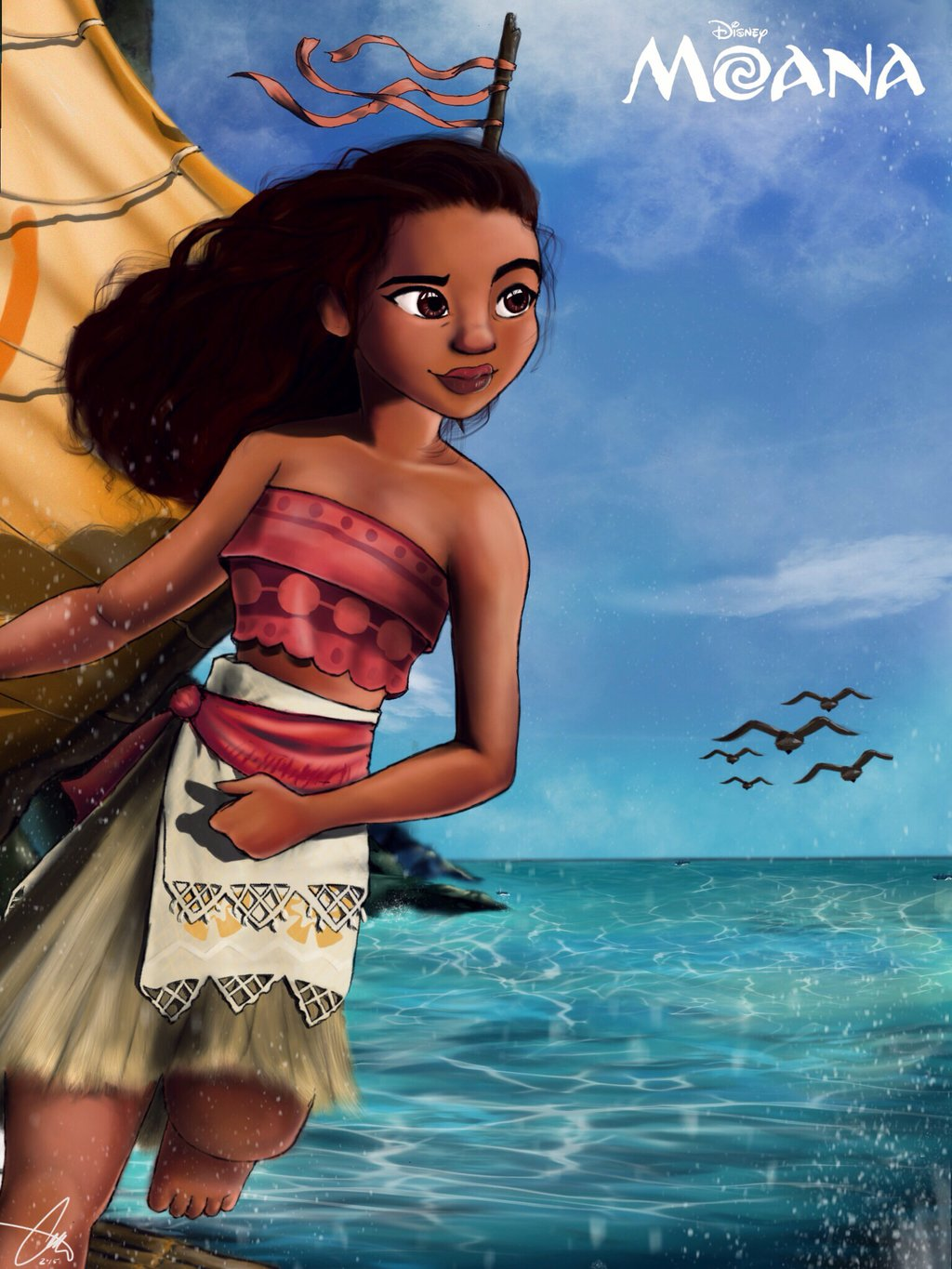 It is a graphic of Stupendous Images of Moana