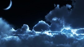 Moon In The Clouds Best Wallpaper