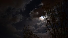Moon In The Clouds Photo