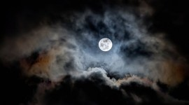 Moon In The Clouds Photo Download#1