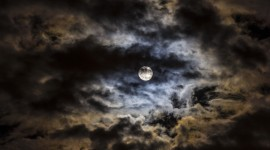 Moon In The Clouds Photo Free