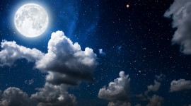 Moon In The Clouds Wallpaper For PC