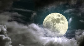 Moon In The Clouds Wallpaper Free