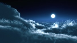 Moon In The Clouds Wallpaper Full HD