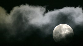 Moon In The Clouds Wallpaper Full HD#1