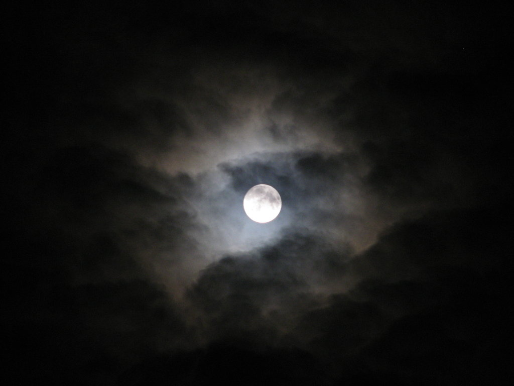 moon in the clouds wallpapers high quality | download free