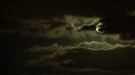Moon In The Clouds Wallpaper#1