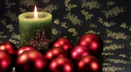 New Years Candles Wallpaper Free