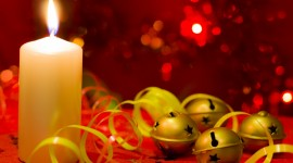 New Years Candles Wallpaper Full HD