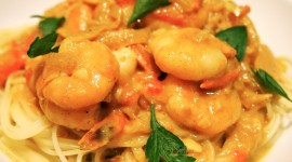 Noodles With Prawns High Quality Wallpaper