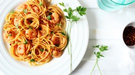 Noodles With Prawns Wallpaper Download Free