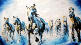 Oil Paint Desktop Wallpaper
