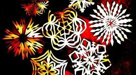 Paper Snowflakes Wallpaper HQ
