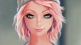 Pink Hair Desktop Wallpaper HD