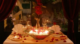 Romantic Dinner Desktop Wallpaper HD