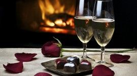 Romantic Dinner Wallpaper Background