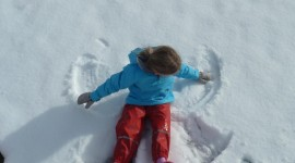 Snow Angel Wallpaper For IPhone Free