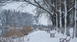 Snowy Winter Wallpaper For PC