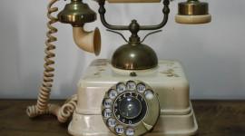 Vintage Phone Desktop Wallpaper
