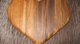 Wooden Heart Desktop Wallpaper HD