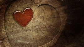Wooden Heart Wallpaper Gallery