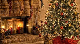 4K Christmas Fireplaces Best Wallpaper