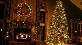 4K Christmas Fireplaces Desktop Wallpaper HD